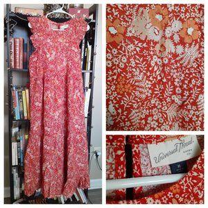 Universal Thread Orange Floral Tiered Dress